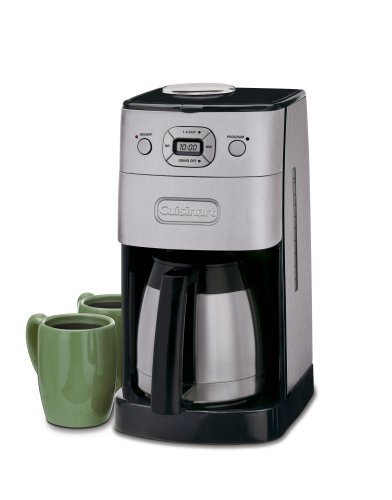 Automatic 12 makers grind coffee cuisinart brew and cup
