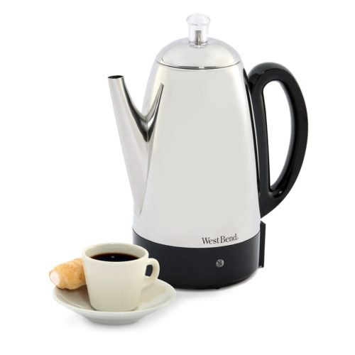West Bend 12 Cup Clic Stainless Steel Coffee Percolator 54159